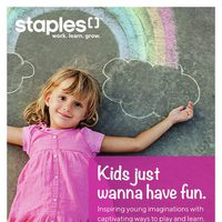 Staples - Kids Just Wanna Have Fun Flyer