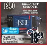 Folgers 1850 K-Cup Coffee Capsules