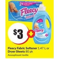 Fleecy Fabric Softener Or Dryer Sheets