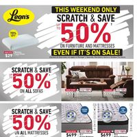 Leon's - This Weekend Only - Scratch & Save Flyer