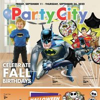 Party City - Celebrate Fall Birthdays Flyer