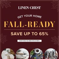 Linen Chest - Get Your Home Fall-Ready Flyer