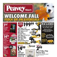 PeaveyMart - Welcome Fall - Stock Up On Essentials Flyer