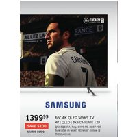 "Samsung 65"" 4K QLED Smart Tv"