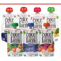 Once Upon A Farm Cold-Pressed Organic Refrigerated Baby Food or Smoothies