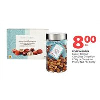 Rose & Robin Luxury Belgian Chocolate Collection or Chocolate Praline Nut Mix