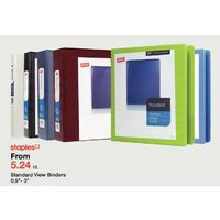 Staples Standard View Binders