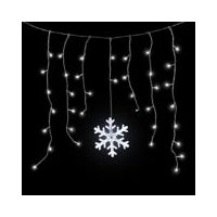Noma Outdoor Twinkling Led Snowflake Curtain