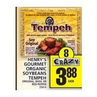 Henry's Gourmet Organic Soybeans Tempeh