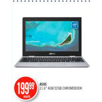 "Asus 11.6"" 4GB/32GB Chromebook"
