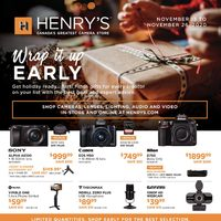 Henry's - Wrap It Up Early Flyer
