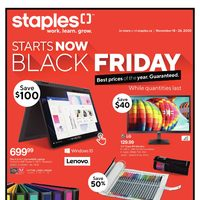 Staples - Black Friday Prices Start Now Flyer