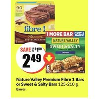 Nature Valley Premium Fibre 1 Bars Or Sweet & Salty Bars