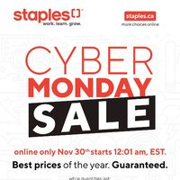 Staples - Cyber Monday Sale Flyer