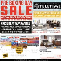 Teletime - Pre Boxing Day Sale Flyer