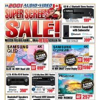 2001 Audio Video - Weekly - Super Screen Sale! Flyer