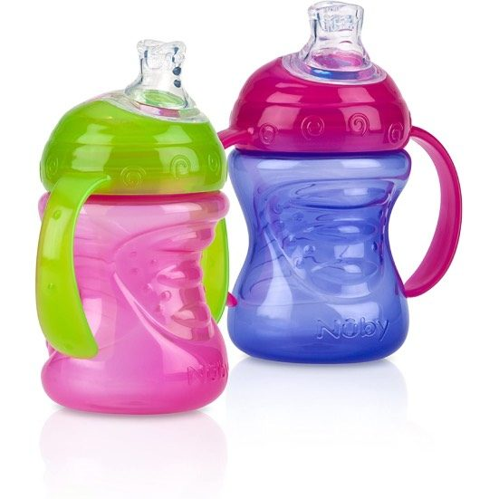 5. Also Consider: Nuby 2-Pack Two-Handle No-Spill Super Spout Grip N' Sip Cups