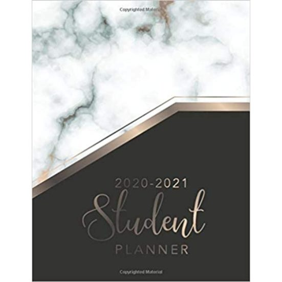 10. Best Planner: Student Planner 2020-2021: Marble Cover