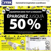JYSK - Rabais de la semaine - Liquidation dans tout le magasin! Flyer