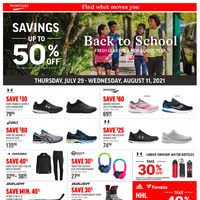 Sport Chek - 2 Weeks of Savings - Back To School Sale Flyer