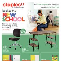 Staples - Weekly Deals - Back To The New School Flyer
