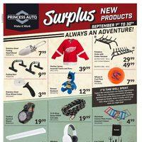 Princess Auto - Surplus - New Products Flyer