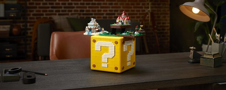 LEGO's 2064-Piece Super Mario 64 Question Mark Block is Packed with Easter Eggs
