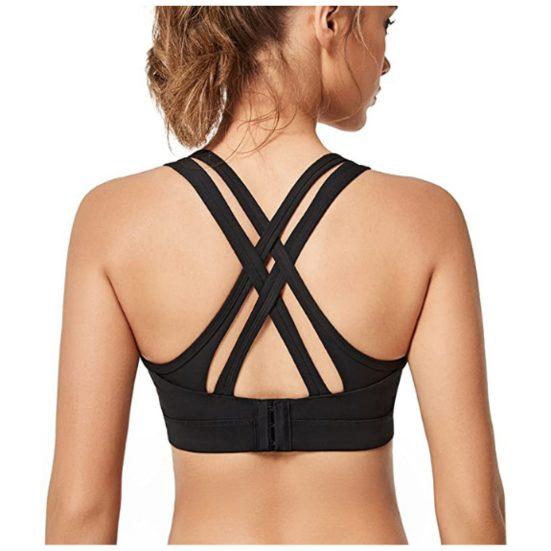 7. Best Plus Size: Yvette Women High Impact Sports Bras