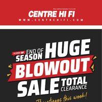 Centre HIFI - Weekly Deals - Huge Blowout Sale Flyer