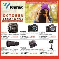 Vistek - October Clearance Flyer