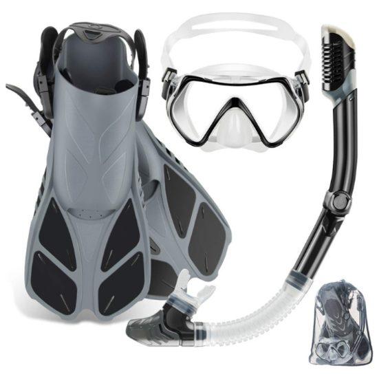 2. Best Runner Up: ZEEPORTE Mask Fin Snorkel Set