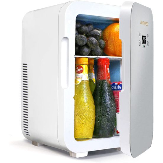 8. Honourable Mention: AWOPEE 11 Can AC/DC Portable Cooler and Warmer Mini Refrigerator