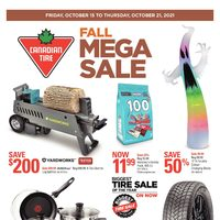Canadian Tire - Weekly - Fall Mega Sale Flyer