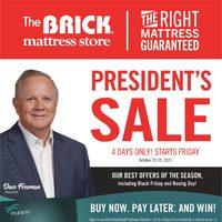 The Brick - Mattress Store - President's Sale Flyer