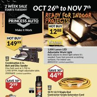 Princess Auto - 2 Week Sale - Ready For Indoor Projects Flyer
