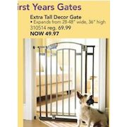 The First Years Extra Tall Decor Gate 49 97 29 Off