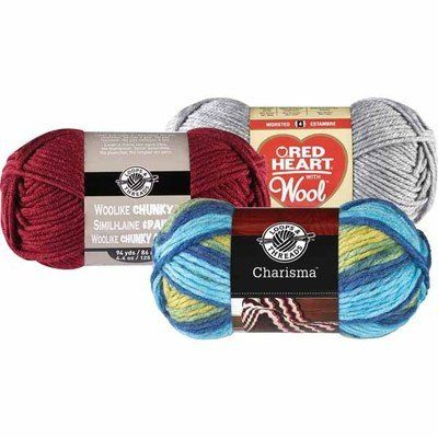 Michaels: Loops & Threads Woolike Chunky and Charisma or Red Heart