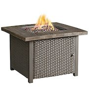 32-inch Square Gas Firepit Table - $249.99 ($150.00 Off)