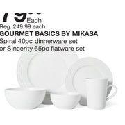 Gourmet Basics By Mikasa Spiral Dinnerware Set Or Sincerity Flatware set - $79.99 (68%  sc 1 st  RedFlagDeals.com & Home Outfitters: Gourmet Basics By Mikasa Spiral Dinnerware Set Or ...