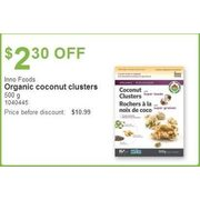 Inno Foods Organic Coconut Clusters 500g - $2.30 off