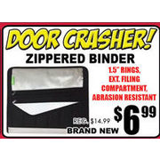 Zippered Binder - $6.99