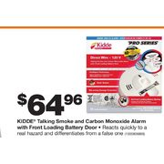 Kidde Talking Smoked and Carbon Monoxide Alarm with Front Loading Battery Door - $64.96