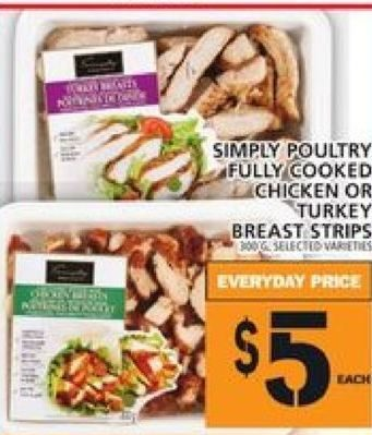 Foodbasics Simply Poultry Fully Cooked Chicken Or Turkey Breast
