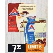 Atkins Diet Bars, Treats, Snacks, Protein Bar or Shakes - $7.99