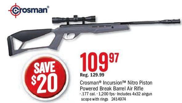 Bass Pro Shops: Crosman Incursion Nitro Piston Powered Break