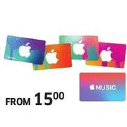 Apple Music or iTunes Gift Gards - From $15.00