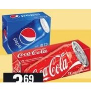 Coca-Cola, Canada Dry or Pepsi Soft Drinks - $3.69