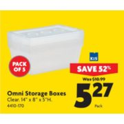 Omni Storage Boxes - $5.27 (52% off)