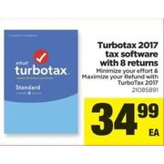 Turbotax 2017 Tax Software with 8 Returns - $34.99