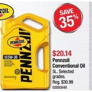 Pennzoil Conventional Oil - $20.14 (35% off)